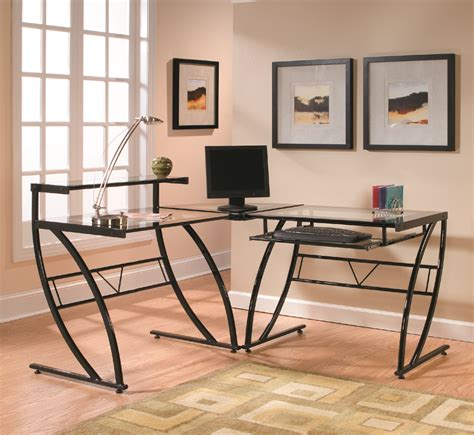 Z Line L Shaped Desk by Z Line Belaire Glass L Shaped Desk Zl1441 1du