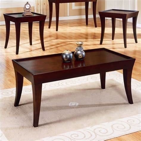 Zen Living Room Furniture Sets Pieces Trent Home Zen 3 Occasional Table Set In Espresso