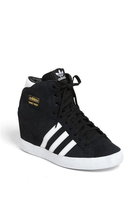 adidas wedge sneakers adidas basket profi wedge sneaker in black black