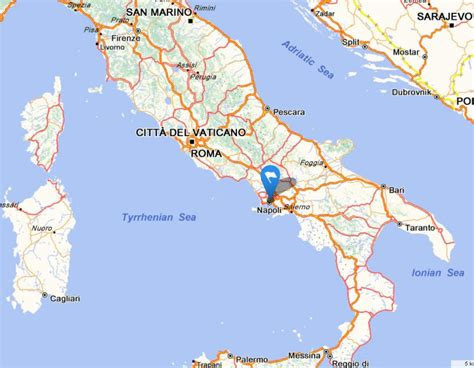 naples italy map getting naples italy