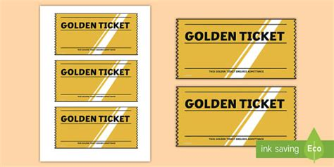 Golden Ticket Editable Writing Template Golden Ticket Editable Free Golden Ticket Template Editable