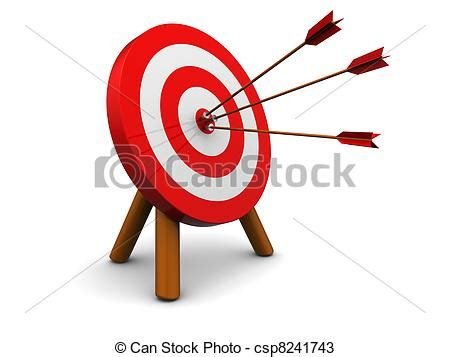 Small Home Plans Free by 3d Illustration Of Archery Target Hit With Three Arrows