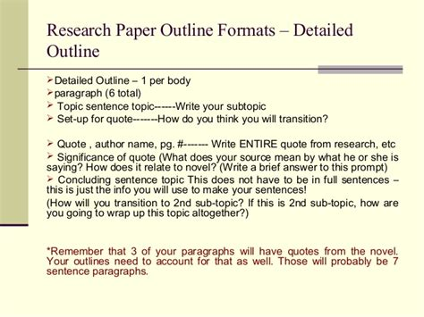 topic sentence for research paper mla