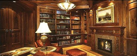 Library Fireplace by Apartment Custom Home Libraries Classic Fireplace