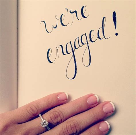 Wedding Announcement App by 13 Of The Best Engagement Announcements On Instagram