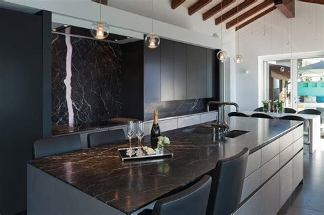 Black Marble Kitchen Countertops Authentic Italian Granite Marble Slabs Supplier In