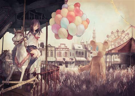 theme park anime amusement park zerochan anime image board