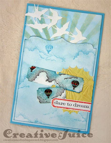 fly pattern trading cards creative juice fly away card sketch