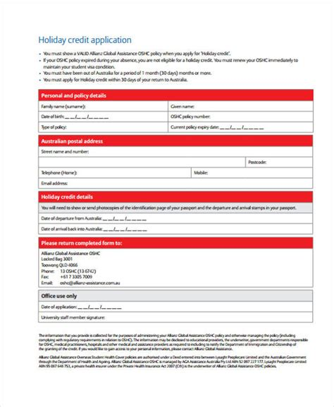 Credit Application Forms Australia 32 credit application forms in pdf