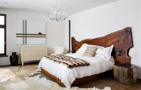 modern rustic bedroom enchanting getaway gives the woodsy cabin style a modern twist