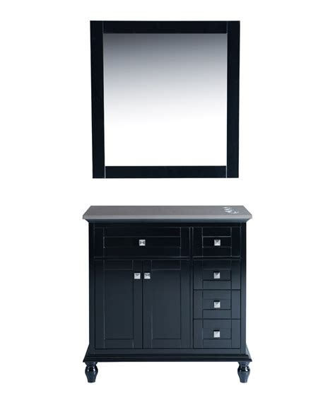 36 quot black vanity styling station mirror