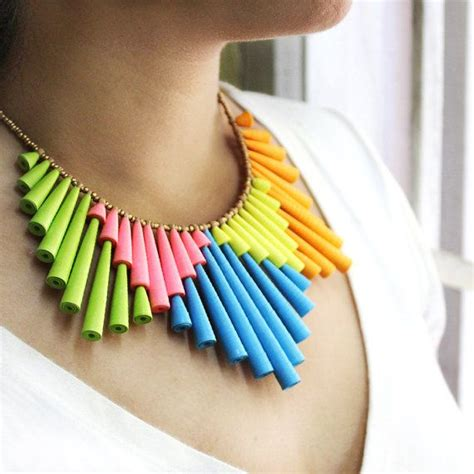 Paper Jewelry - pin by sculpey on creative inspirations
