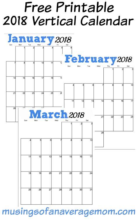 printable calendar 2018 horizontal musings of an average mom 2018 calendars from musings of