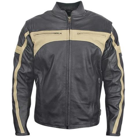 armored leather motorcycle jacket men s classic armored leather motorcycle jacket
