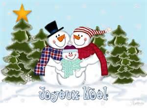 Noel Cards - quot snowman family joyeux noel card quot by lallinda