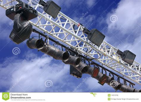 Outdoor Stage Lights Outdoor Stage Lighting Stock Photo Image 14313700