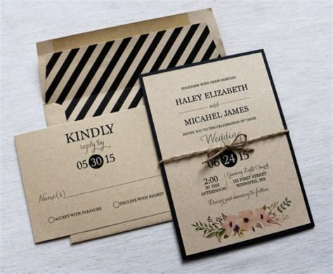 Modern Wedding Invitations by Modern Wedding Invitation Rustic Wedding Invitation