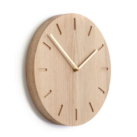 wanduhr skandinavisch applicata out wall clock made of oak