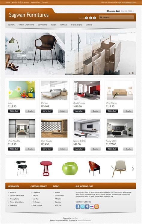 sagwan furniture s opencart theme by sainath themeforest