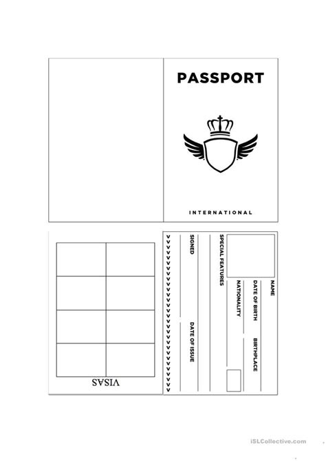 passport template for printable top 10 attractions in los angeles worksheet free esl