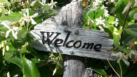 Home Garden Decoration Ideas Free Photo Welcome Sign Garden Sign Free Image On