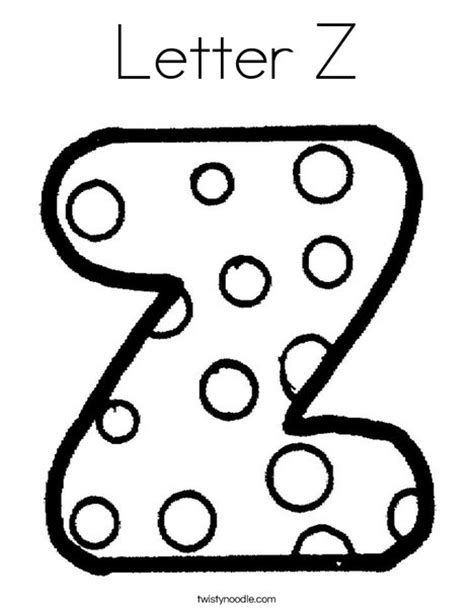 letter z coloring pages preschool letter z coloring page twisty noodle