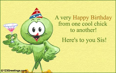 for a cool sis free ecards greeting cards 123 greetings