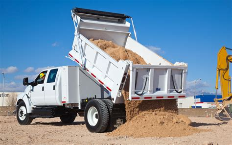Where To Dump by 2012 Ford F 650 Dump Truck Test Motor Trend