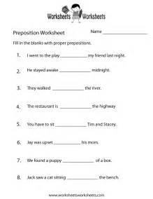 preposition test worksheet free printable educational
