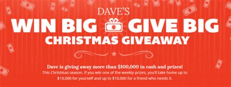 Dave Ramsey May Giveaway - dave ramsey s win big give big christmas giveaway sweepstakes win 10 000