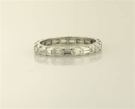 Eternity Band by Platinum Baguette Eternity Band Eternity Bands