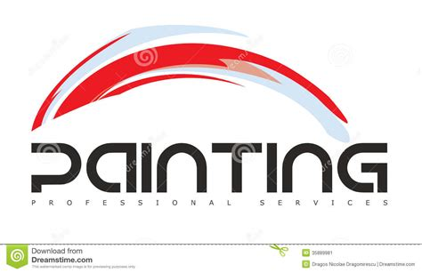 artist logo template painting gallery logo stock image image 35889981