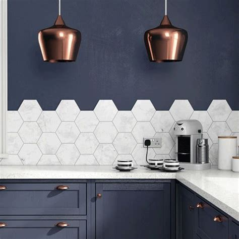 hexagon tile kitchen backsplash top 25 best hexagon tiles ideas on