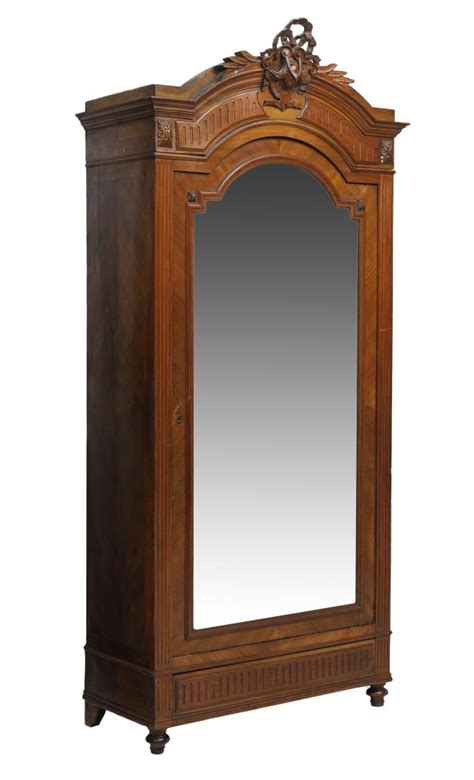 single door armoire with mirror louis xvi single door mirrored armoire spring two day