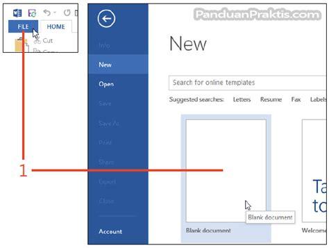 cara membuat outline word cara membuat dan mendesain template word 2013