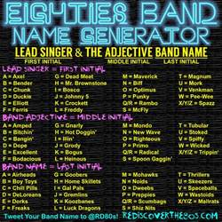 take the stage using this 80s band name generator