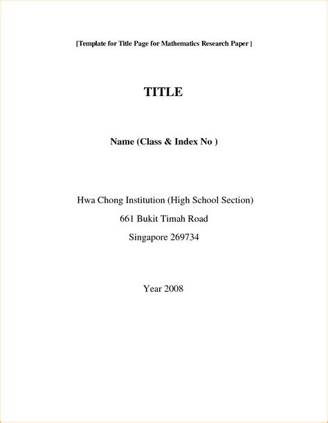 Apa Title Page Format For Research Paper by Apa Format For Title Page Of Research Paper Bamboodownunder