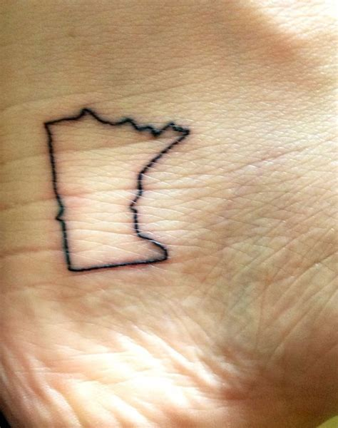 minnesota outline tattoo minnesota i am and home on