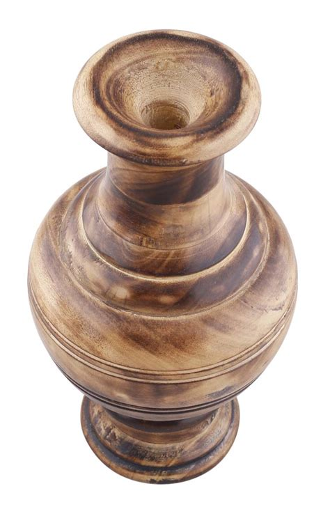 Wood Vases Wholesale by 8 2 Decorative Light Brown Wooden Flower Vase In Bulk