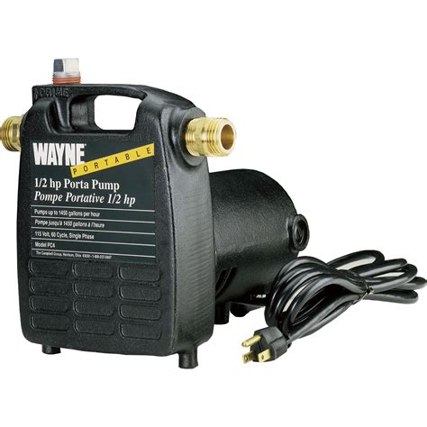 wayne cast iron portable transfer water pump  gph