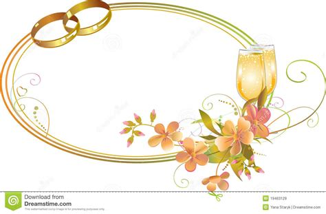 Wedding Borders With Rings by Wedding Ring Border Clipart 62