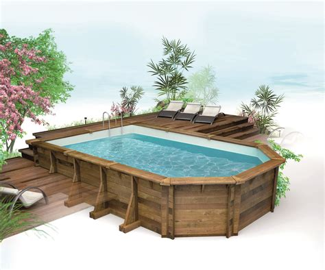 Piscine Hors Sol Semi Enterr by Comment Enterrer Une Piscine Hors Sol Bois Photo Piscine