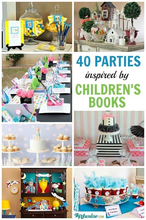 book novel themes 40 popular childrens book birthday parties via sue warren