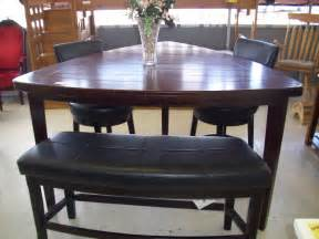 pub dining table with bench collections