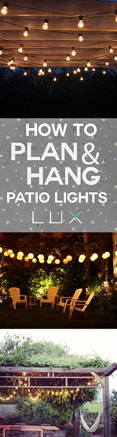 easy way to hang outdoor christmas lights how to plan and hang patio lights patio lighting and