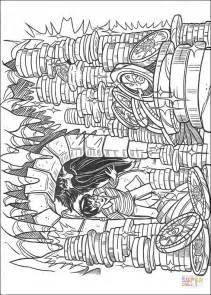 harry potter hagrid coloring pages harry and hagrid find treasure coloring page free
