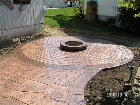 sted concrete patio with pit by swiss