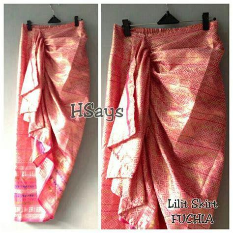 Lilith Skirt Rok Lilit Batik Songket Rok Wanita Rk154 Murah jual rok songket lilit skirt by hsays meldhisty