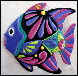 tropical fish 24 metal wall painted outdoor by