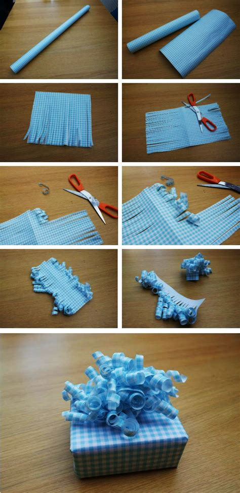 How To Make A Present Out Of Paper - 25 best ideas about wrapping paper bows on